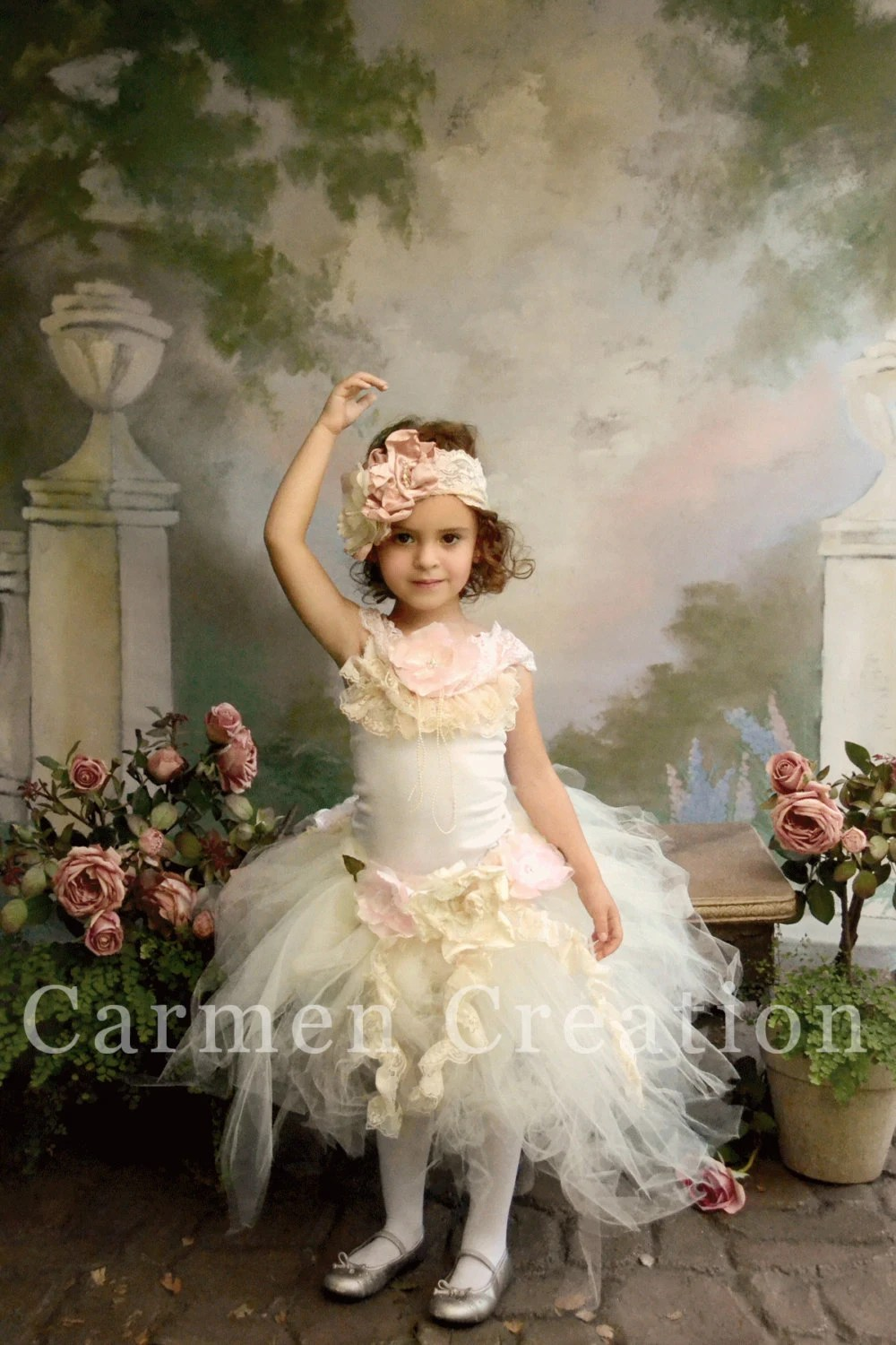 Items similar to Couture Fairy Dress  Couture Flower Girl