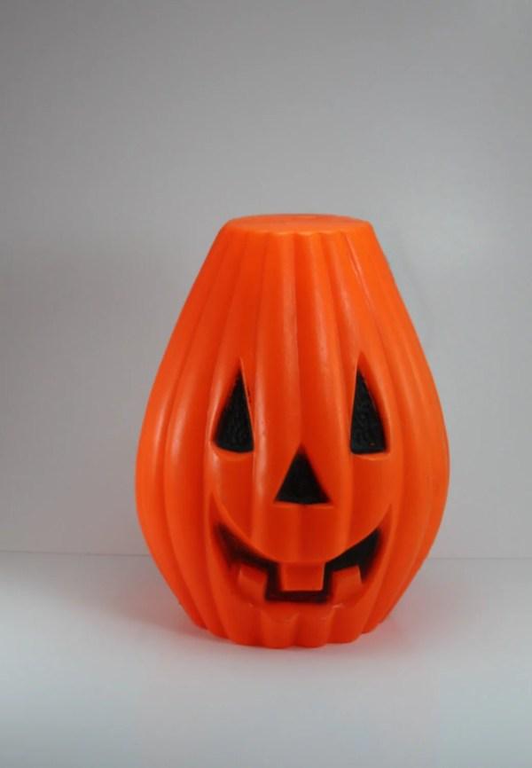 Vintage Halloween Pumpkin Jack Lantern Light Blow Mold