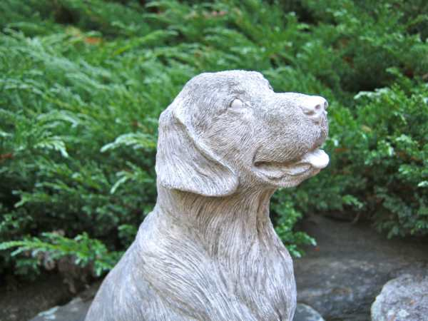 Golden Retriever Statue Concrete Dog Cast In Stone Cement