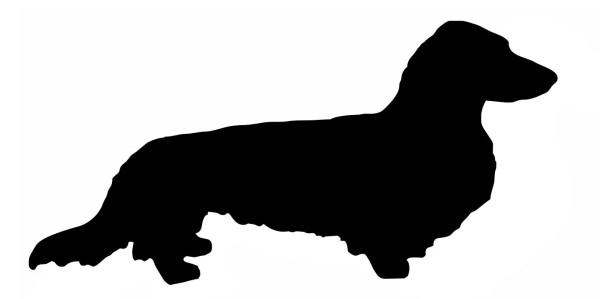 dog stencils long haired dachshund