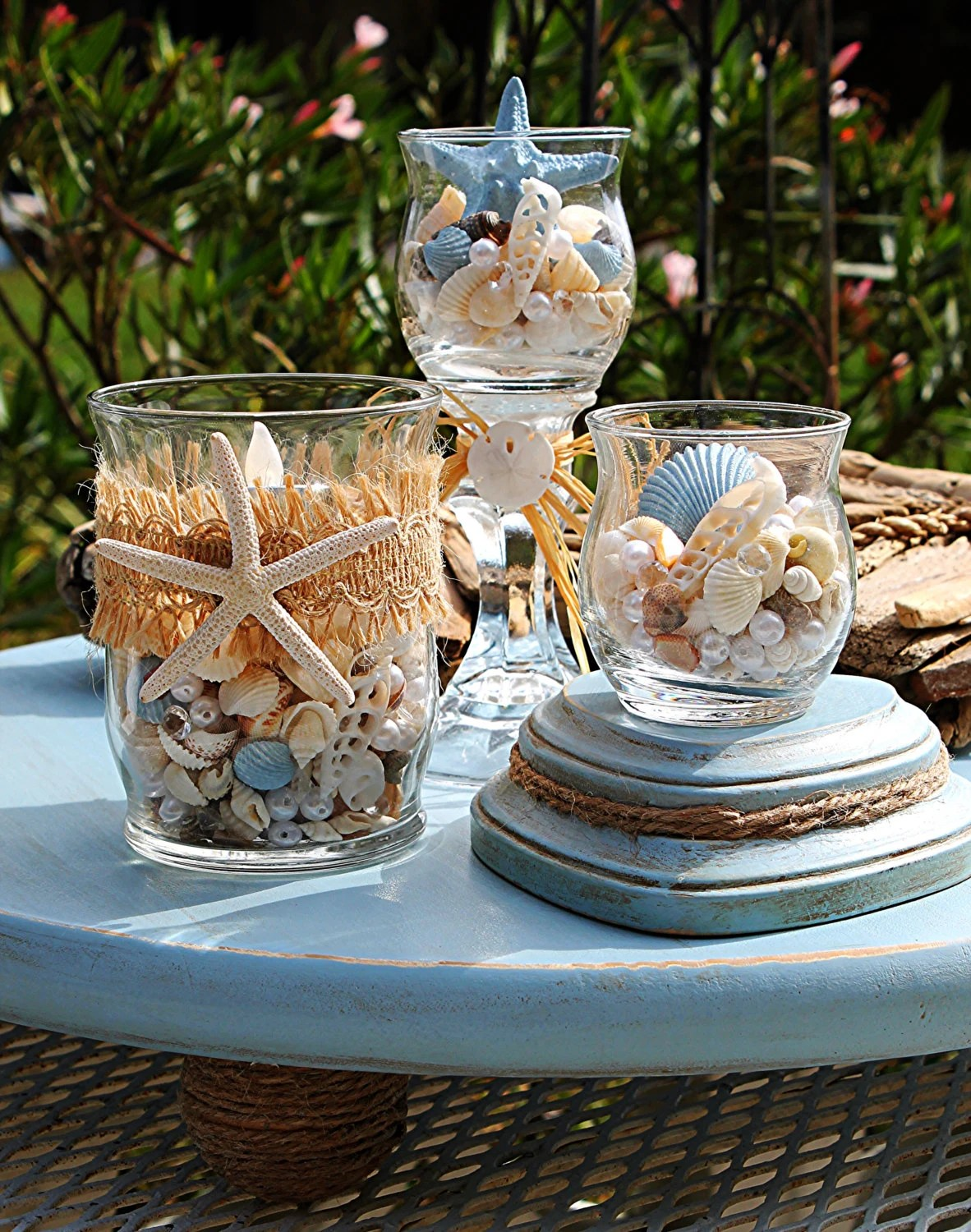 Beach Wedding CenterpieceBeach Wedding DecorNautical