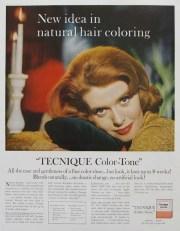 1960 tecnique color tone ad retro