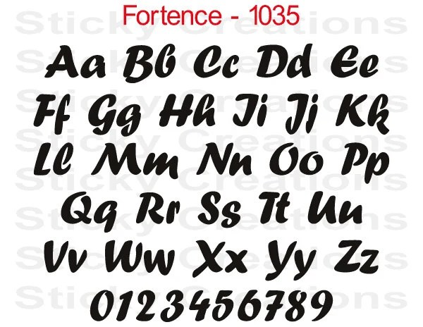 Custom Text Tailends Font Customized Personalized Letters Name