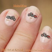 motor bike nail art cycle