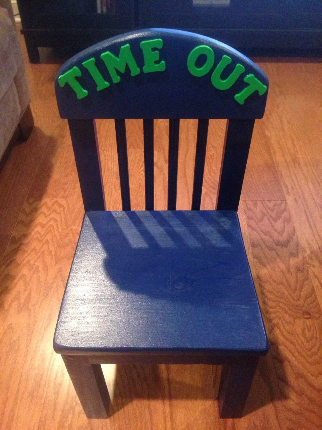 kids time out chair desk office max wooden with timer navy green letters
