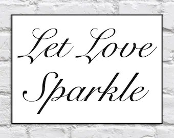 Download Popular items for let love sparkle on Etsy