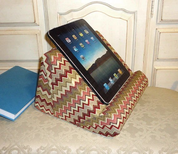 iPad Stand  or Book Stand  Padded For Your Lap by