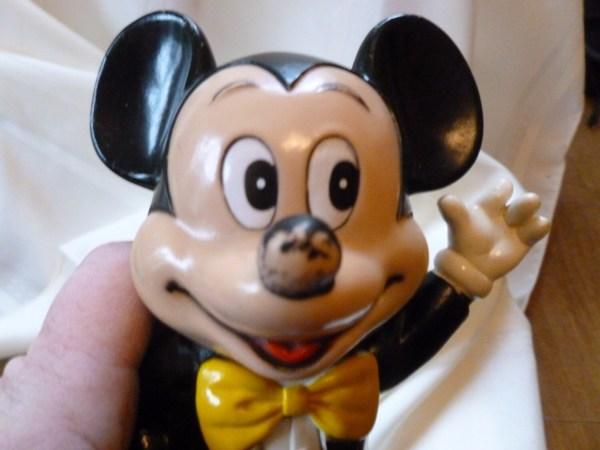 Vintage Mickey Mouse Plastic Figurines