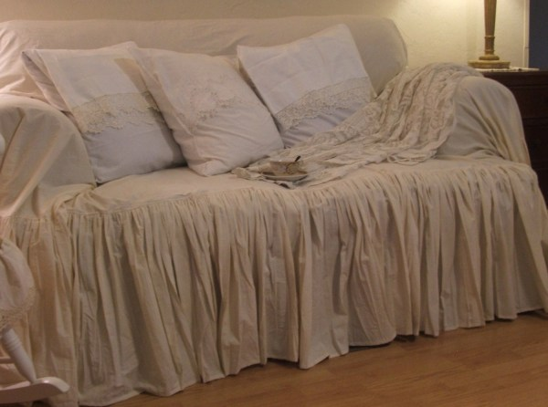 Shabby Chic Couch Slipcover Throw Mythymecreations
