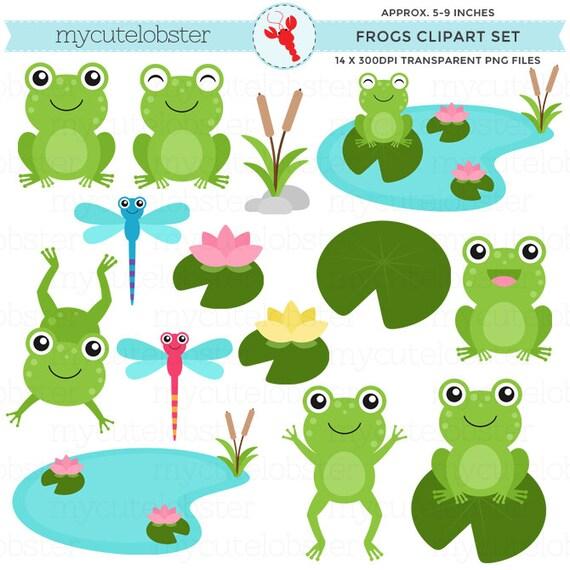 frogs clipart set clip art