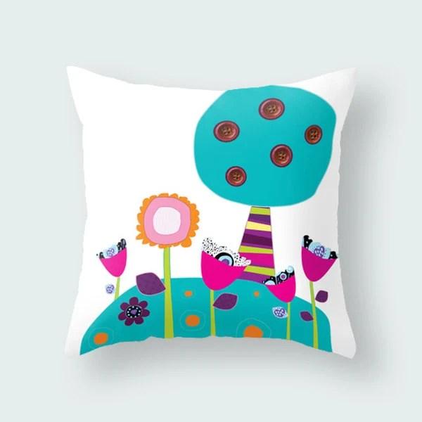 Kids throw pillow kids pillow children cover cushion