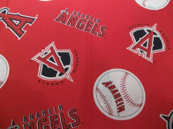 Mlb Anaheim Angels Baseball Logo Red Cotton Destachdepotfabrics
