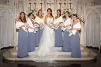 Wedding faux fur shawls 6 bridesmaids furs 6 bridesmaids