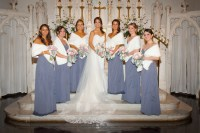 Wedding faux fur shawls set of 6 bridesmaids furs 6