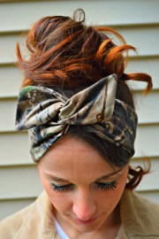 real tree camo dolly bow head band