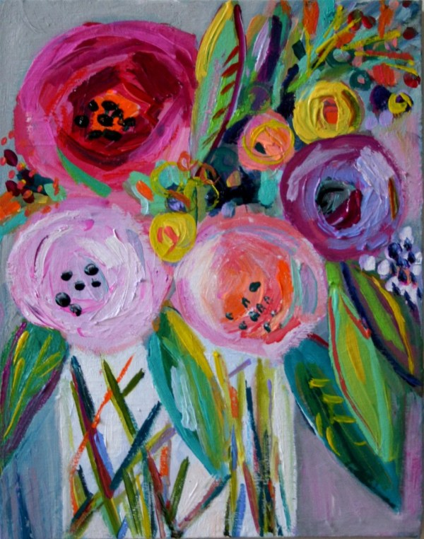Floral Life Abstract Art Small