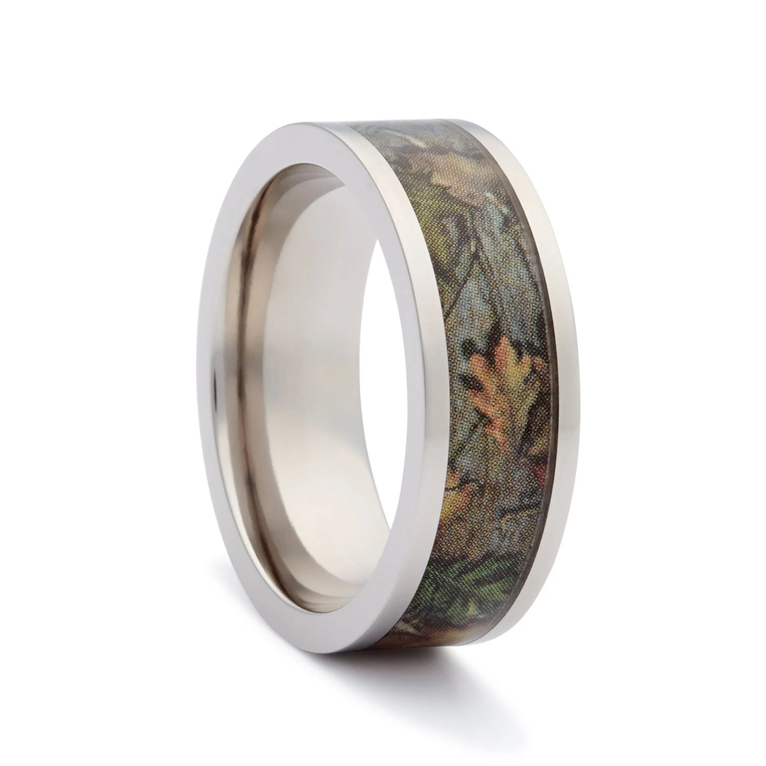 Camo Wedding Rings By One Camo Flat Titanium By