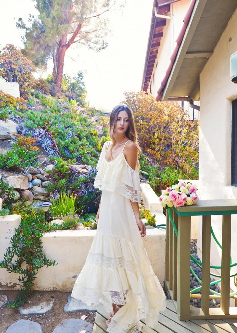 High Low Silk Chiffon BOHEMIAN WEDDING DRESS By