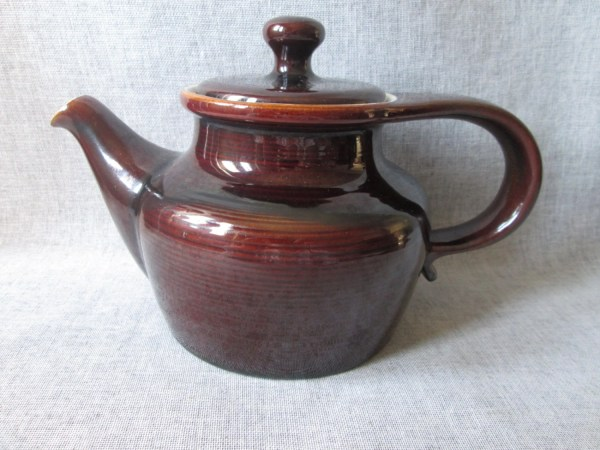 Red Wing Butter Mold Teapot Ernest Sohn Pottery Brown
