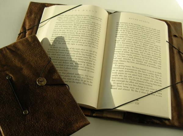 Small book cover hands free reading book holder weathered