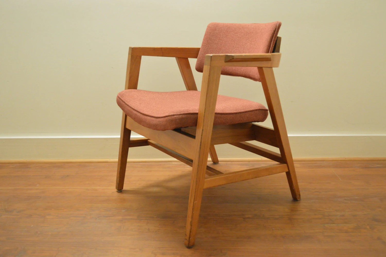 wh gunlocke chair telescope beach chairs with wheels vintage by w h 1950 39s