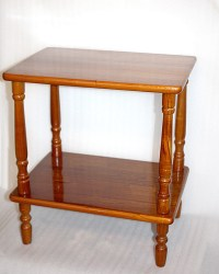 Items similar to Vintage Hardwood Side Table, Spindle Legs ...