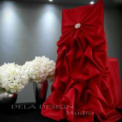 Christmas Wedding Chair Covers Recliner Disc Target New Red Cover Specialty Bustle Back Bride