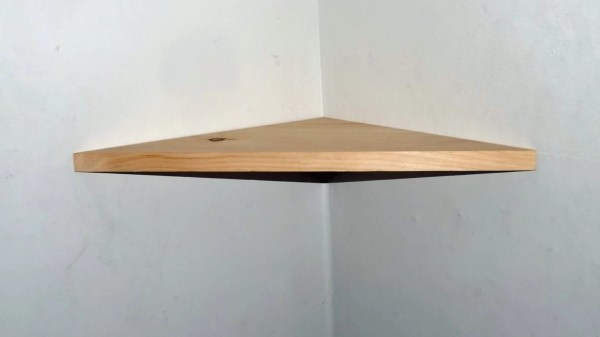 18 Inch Floating Corner Shelf