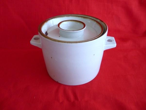 Dansk Design Stoneware Brown Mist 1.75 Qt Double Handle