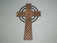Celtic Knot Cross Wood Wall Art