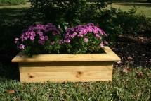 Rustic Cedar Outdoor Planter Box Dbarcwoodworking