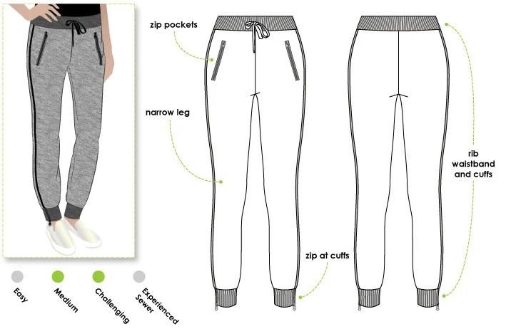 Shelby Sweat Pant Sizes 28 30 Women's PDF Sewing