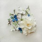 blue flower hair accessories light