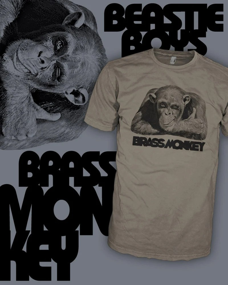 Brass Monkey T Shirt Beastie Boys Drink Shirt Brass Monkey