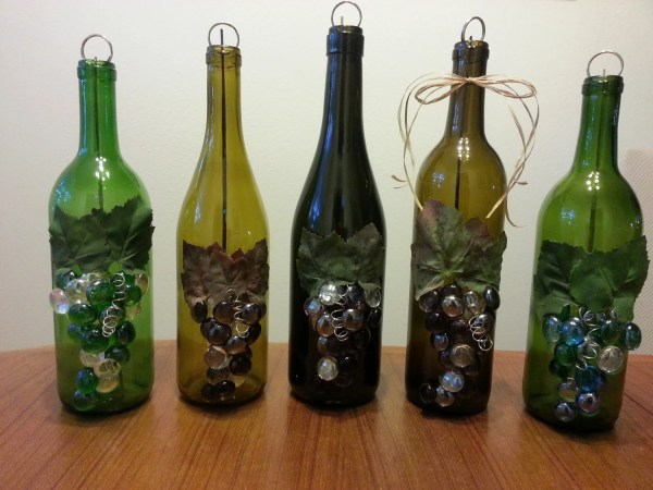 Upcycled Wine Bottle Incense Burner Clean Burn