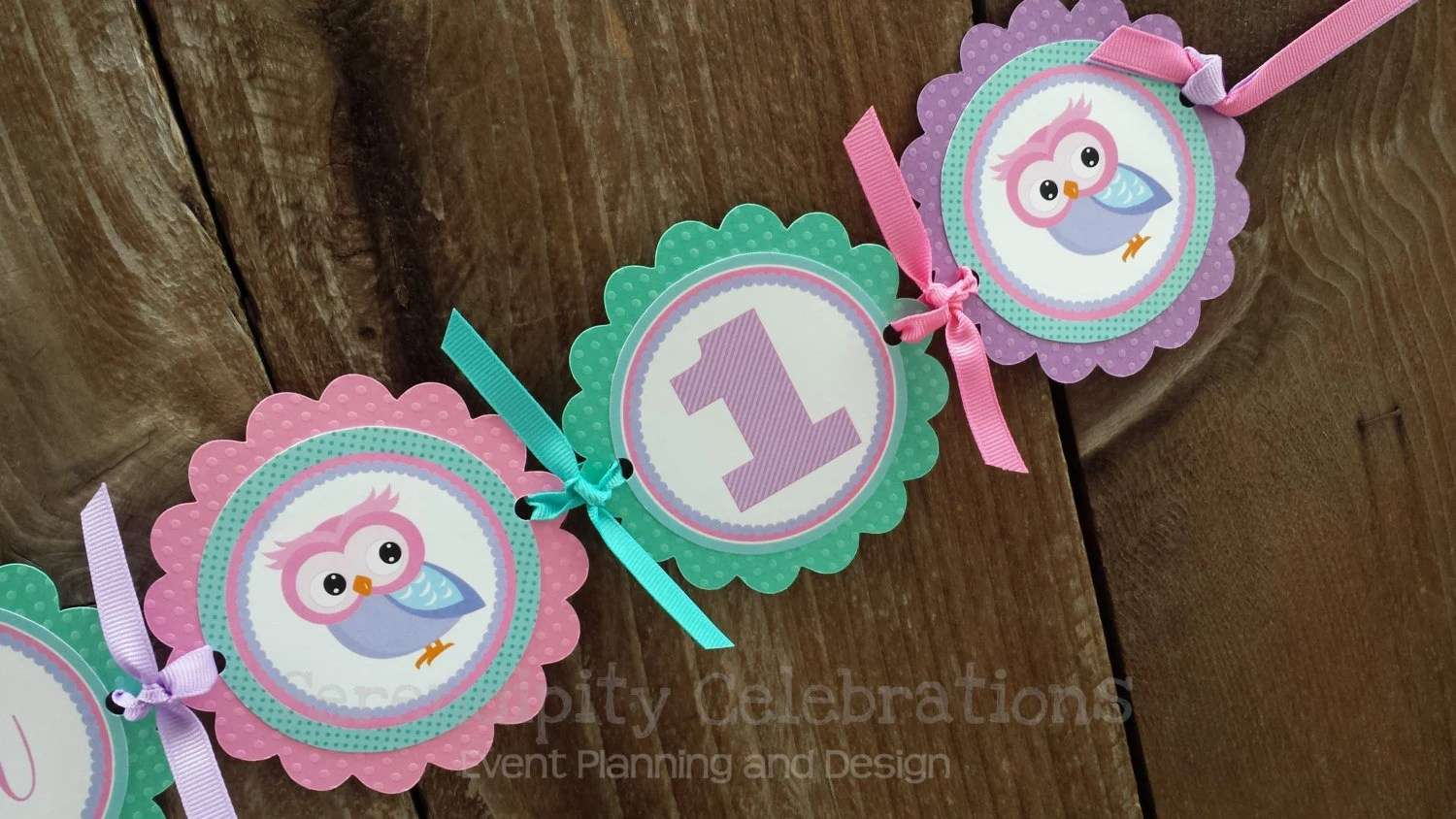 Owl High Chair High Chair Banner Pink Purple Teal Owl Photo Prop High