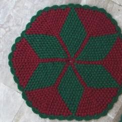 Crochet Christmas Chair Covers Staples Canada Ergonomic Chairs Vintage Pair Set 2 Cushions