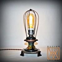 Unique Steampunk Desk Lamp with Vintage & Antique parts