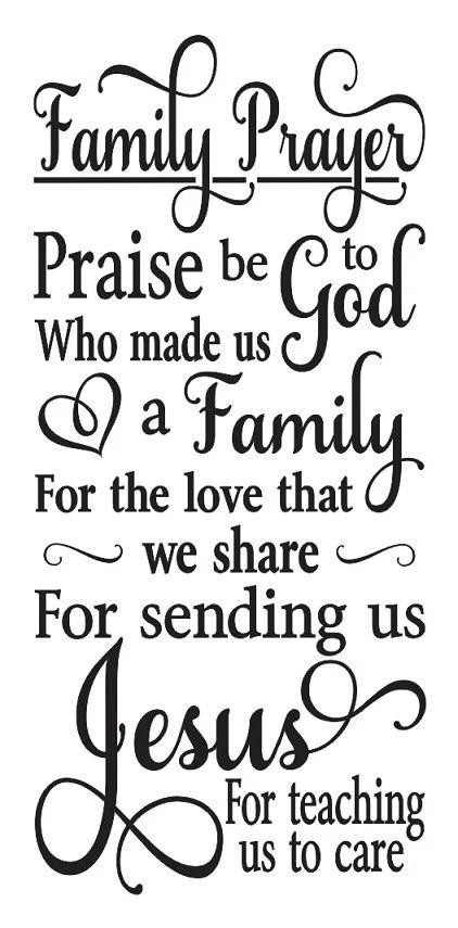 Family Rules STENCIL **Family Prayer** 12