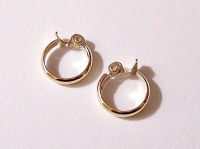 Monet Medium Hoop Clip On Earrings Gold by ...