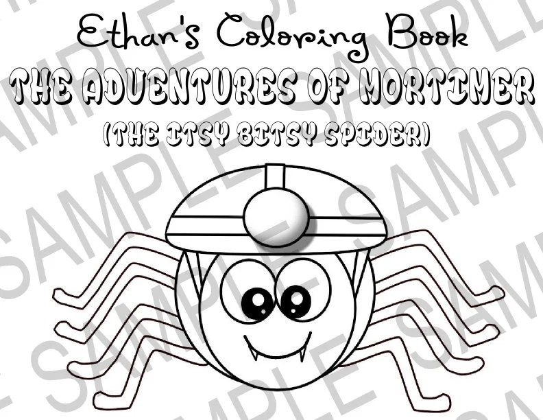 Personalized Book Kids Printable Itsy Bitsy Spider