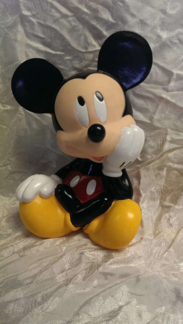 Vintage Plastic Mickey Mouse Bank Disney
