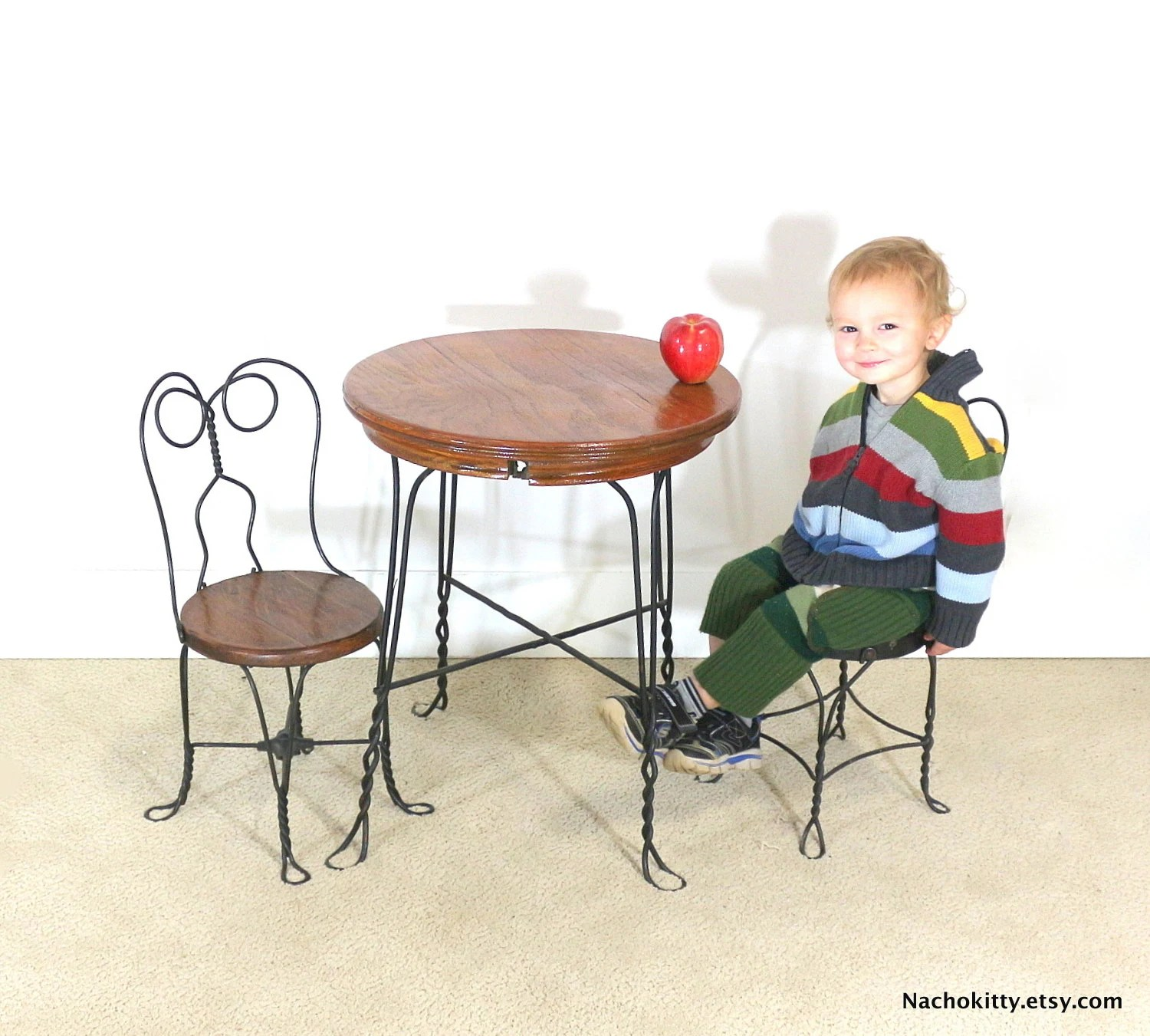 Ice Cream Table And Chairs 1940s Ice Cream Parlor Childs Table And Chair Set Wood By