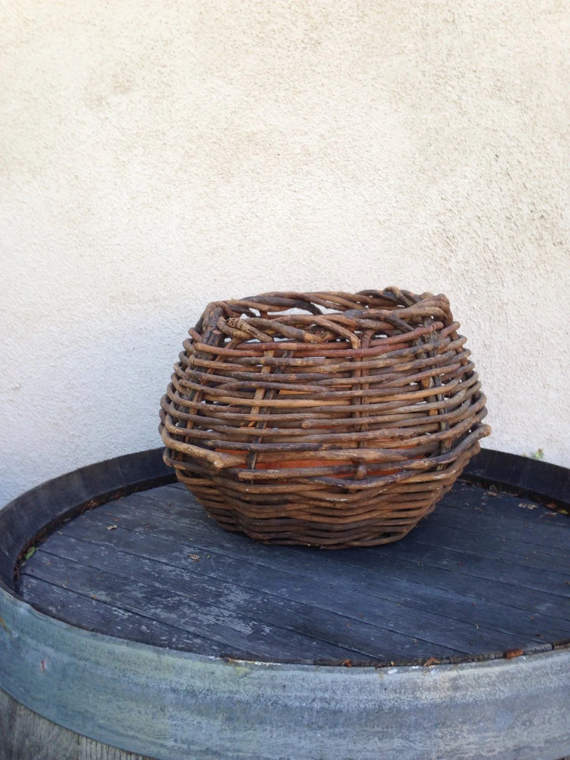 How To Weave A Basket Out Of Twigs : Rustic woven basket haute juice
