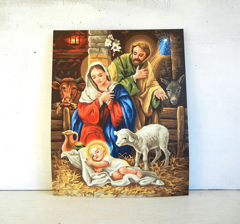 Paint By Number Painting Christmas Nativity Jesus Joseph
