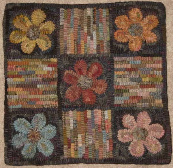 Primitive Rug Hooking Pattern-flowerbox