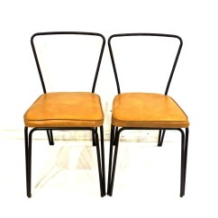 Mid Century Modern Kitchen Chairs Green Accessories Vintage 1950s 60s Black By Mkmack