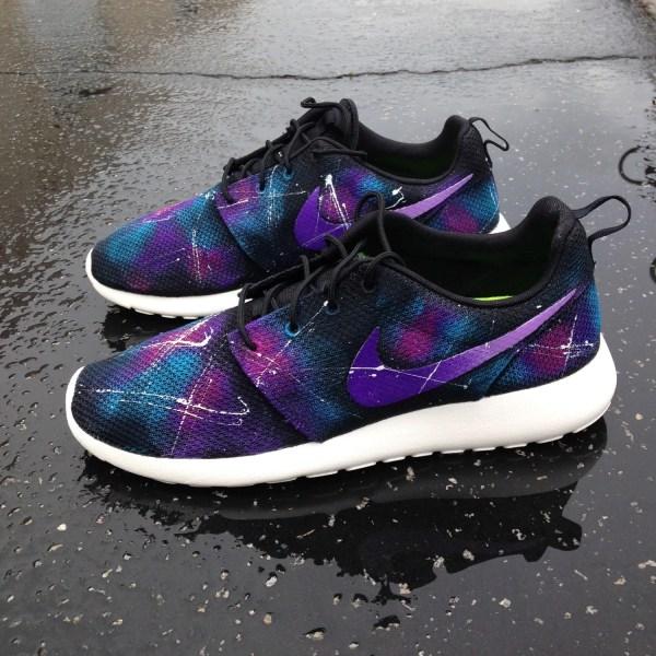 Custom Galaxy Nike Roshe Runs Sneakerkraft