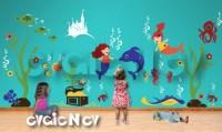 Under the Sea Nursery Wall Decals Mermaids Underwater