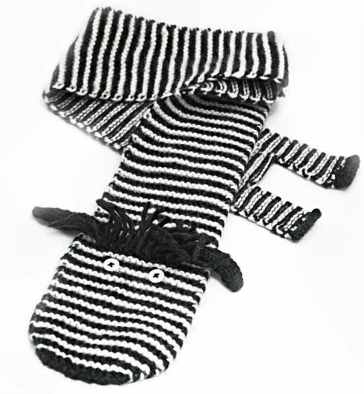 Easy Zebra Scarf Knitting PDF Pattern Animal Scarf Zebra